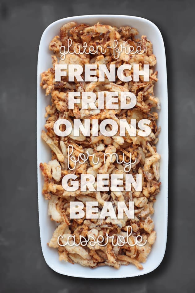 French Fried Onions (Gluten Free, Dairy Free, Egg Free, Vegan)