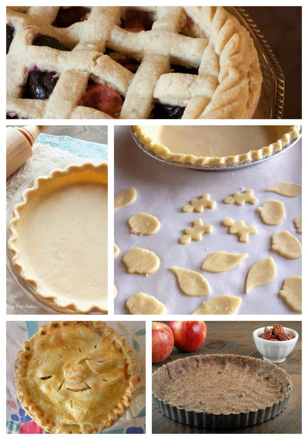 PIE!!!! Here are 40 of the best gluten-free pie crust recipes that will make your holidays and everyday--any time that a really good gluten-free pie is required! [featured on GlutenFreeEasily.com] (photo)