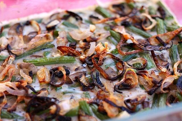 Green Bean Casserole (Gluten Free, Vegan)