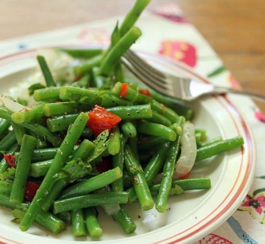 Moroccan Green Beans with Lemon Cumin Vinaigrette (Gluten Free, Paleo, Vegan)