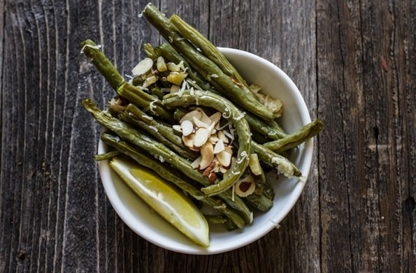Roasted Garlic Green Beans with Lemon and Parmesan (Gluten Free)