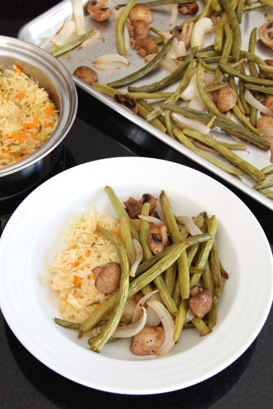 Roasted Green Beans and Mushrooms (Gluten Free, Paleo & Vegan)
