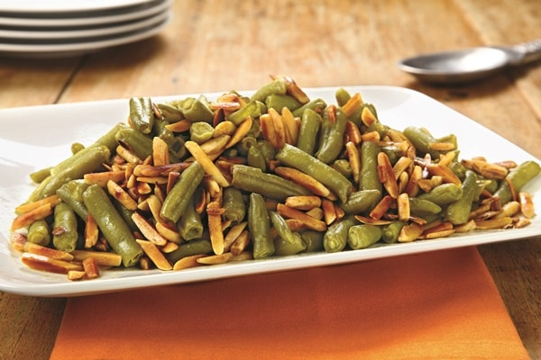 Toasted Almond Green Beans (Gluten Free, Paleo & Vegan)