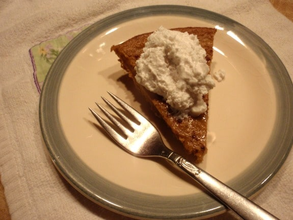 Crustless Pumpkin Pie with CocoWhip Original