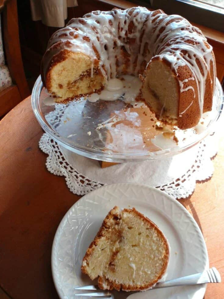 Gluten-Free Cream Cheese Pound Cake with Streusel Filling