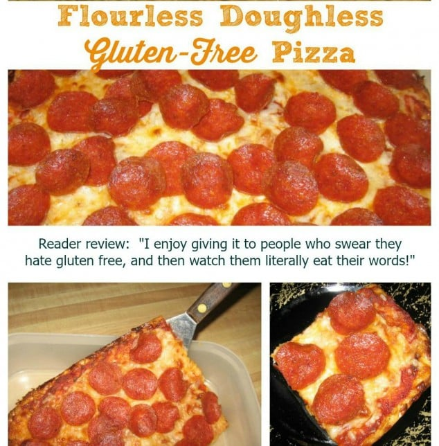 Gluten-Free Flourless Doughless Pizza Cropped