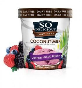 So Delicious Dairy-Free Coconut Milk Mixed Berry Ice Cream