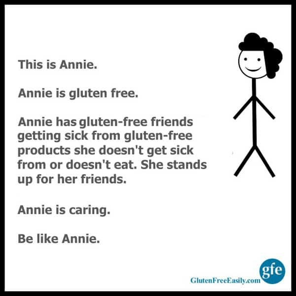 Be Like Annie Support Your Gluten-Free Friends