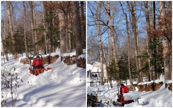 Mr. GFE Clearing Driveway Blizzard 2016