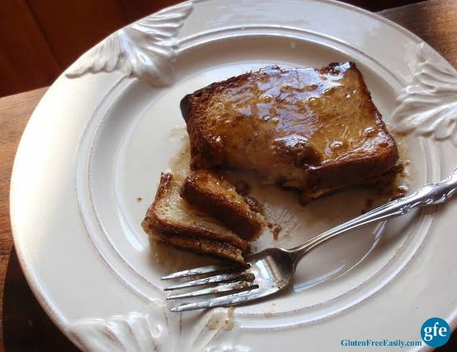 Maple syrup? Honey and melted butter? Powdered sugar? Choose your favorite topping for this Gluten-Free French Toast Casserole.