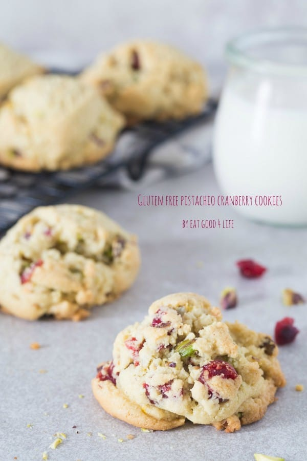 Gluten-Free Pistachio Cranberry Cookies Photo