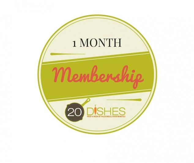 20 Dishes One-Month Membership