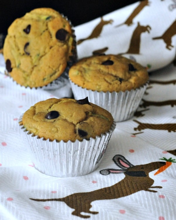 Gluten-Free and Vegan Fluffy Chocolate Chip Zucchini Muffins from Spabettie