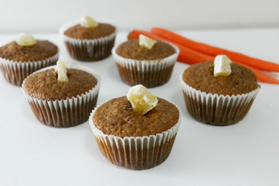 """Carrots and ginger are a match made in muffin heaven! Just one of the best gluten-free muffin recipes from March Muffin Madness! """"Lightly sweet with carrots and zingy with ginger."""""""