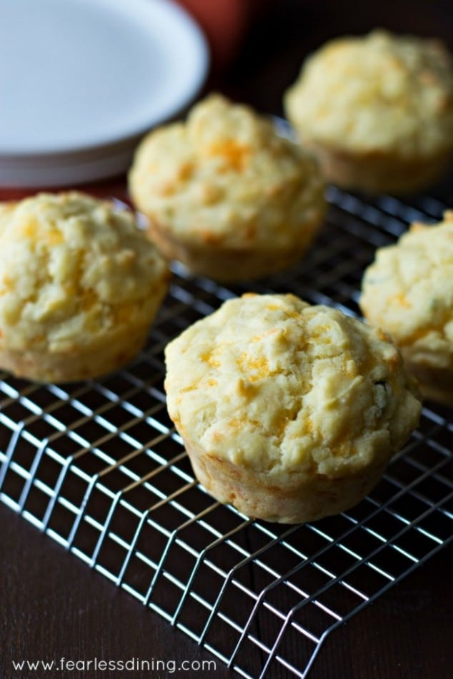 It will be hard to wait for these to cool enough to eat! Gluten-Free Cheddar Herb Muffins