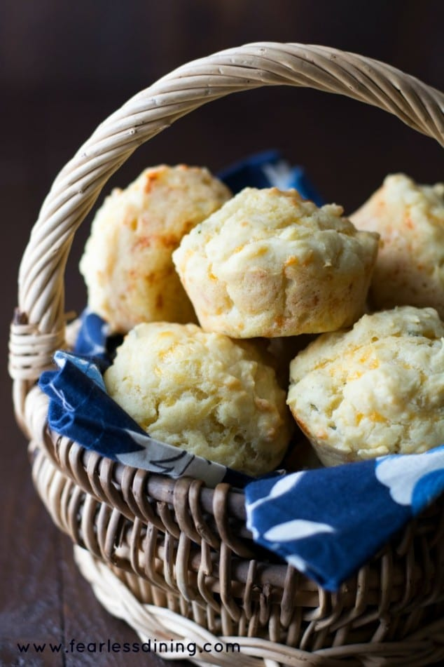 You will love to serve to these muffins to your family and guests! Gluten-Free Cheddar Herb Muffins