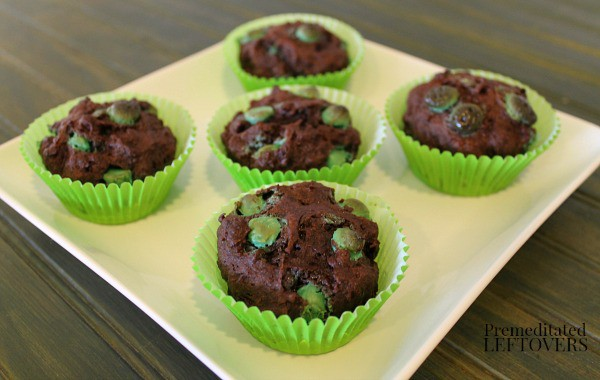 Gluten-Free Chocolate Mint Muffins, also known as Chocolate Muffins with Mint Chips. Whatever you call them, they're delicious! Just one of the best gluten-free muffin recipes from March Muffin Madness.