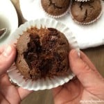 "Fluffy and ""insanely delicious"" gluten-free and paleo Double Chocolate Muffins!"