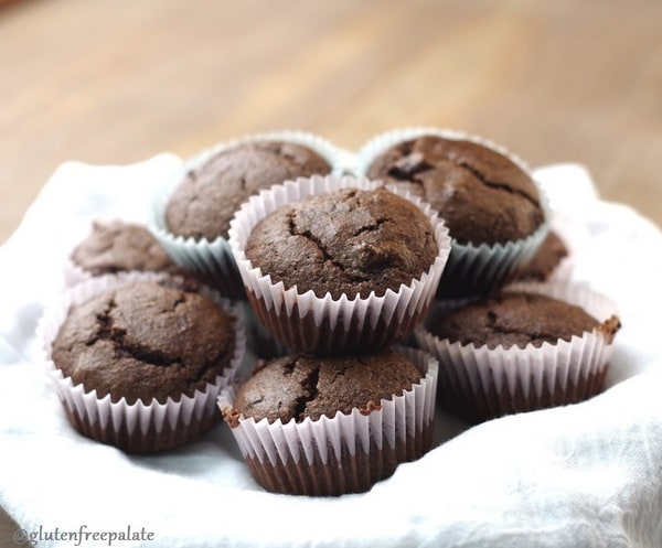 These Double Chocolate Muffins are gluten free, paleo friendly, and oh, so good! Just one of the best gluten-free muffin recipes from March Muffin Madness!