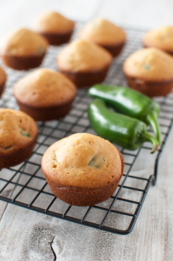 """No-Corn Jalapeno """"Cornbread"""" Muffins. """"tender, slightly sweet, and a little crumbly with a hint of jalapeno."""" These look and sound sensational! Just one of the best gluten-free muffin recipes from March Muffin Madness!"""