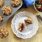 Gluten-Free Nut Butter, Banana, and Jam Muffins for March Muffin Madness