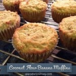 Paleo Coconut Flour Banana Muffins for March Muffin Madness