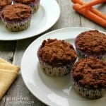 These Healthy Carrot Muffins are gluten free and just happen to be paleo! Easy to make and delicious, they're terrific for breakfast or snacking!