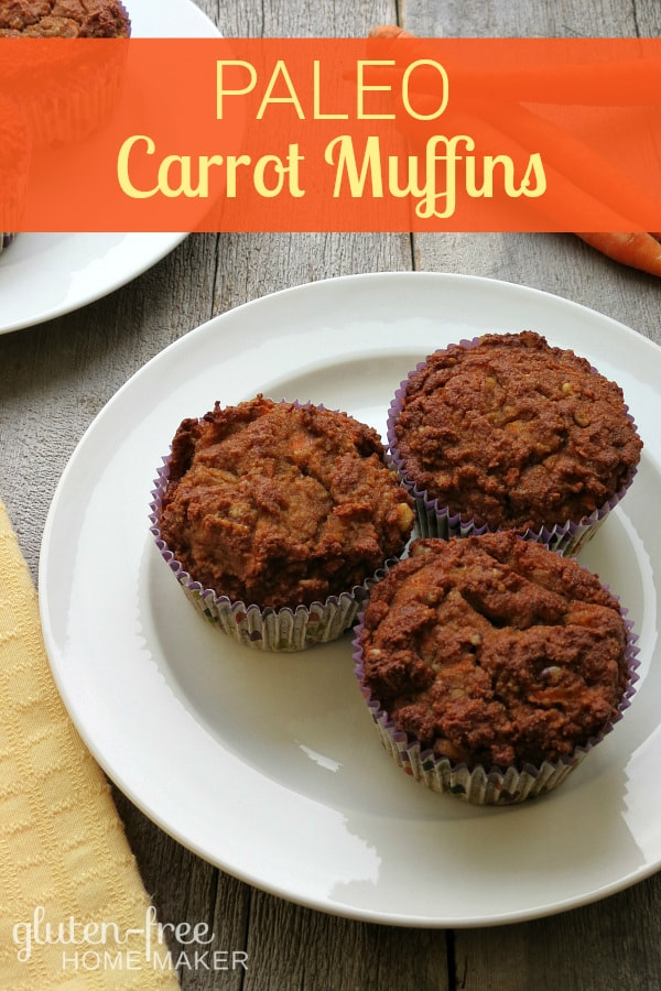 Welcome Spring with these Paleo Healthy Carrot Muffins from Gluten-Free Homemaker! One of the many muffin gems in March Muffin Madness!