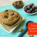 Another amazing entry in March Muffin Madness! Paleo Blueberry Muffins from Tessa The Domestic Diva