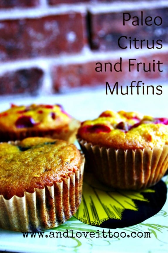 These look so vibrant, so healthy! Paleo Citrus Fruit Muffins from And Love It, Too! for March Muffin Madness.