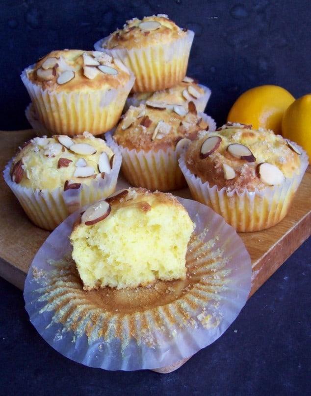 gluten free lemon ricotta cake muffins
