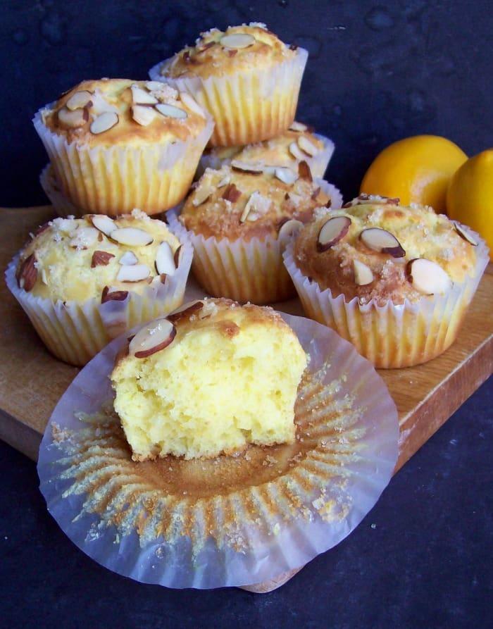 Gluten-Free Lemon Ricotta Cake Muffins (or Cake)