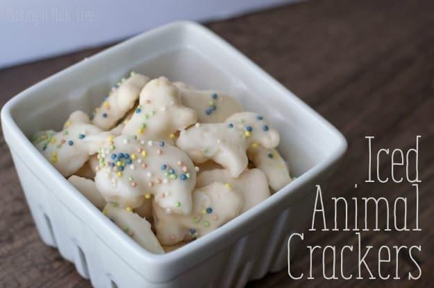 "Gluten-Free Iced Animal Crackers. Love this cheater ""recipe""! One of seven gluten-free animal cracker recipes featured on gfe. [on GlutenFreeEasily.com]"