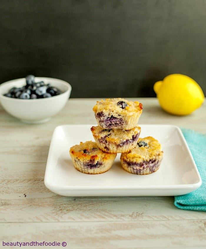 What wonderful grain-free muffins to wake up to! Grain-Free Lemon Berry Muffins from Beauty and The Foodie. March Muffin Madness!