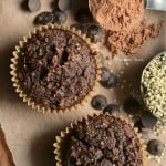 Paleo Chocolate Hemp Protein Muffins for March Muffin Madness