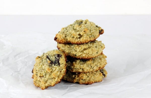 Gluten-free and paleo-friendly Hemplicious Chocolate Chip Cookies. Paleo Chocolate Chip Cookies with hemp seeds added. You're going to love this protein-packed version of chocolate chip cookies. Dark chocolate chips and hemp seeds are a fabulous combination!