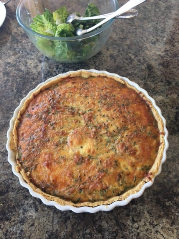 """Gluten-free never has to mean not as good or just """"okay."""" Look at this Gluten-Free Quiche with Ready-Made Shortcrust Pastry!"""