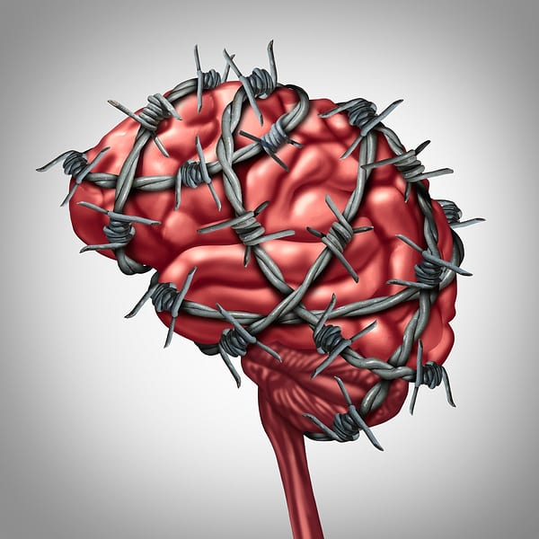What it feels like is happening to your brain when you have a migraine, right? You may be able to eliminate or greatly reduce migraines with a gluten-free diet if you have celiac or non-celiac gluten sensitivity. [from GlutenFreeEasily.com] (photo)