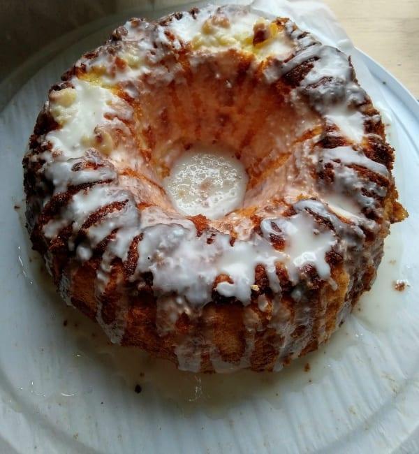 Gluten-Free Lemon Sponge Cake Overhead Photo