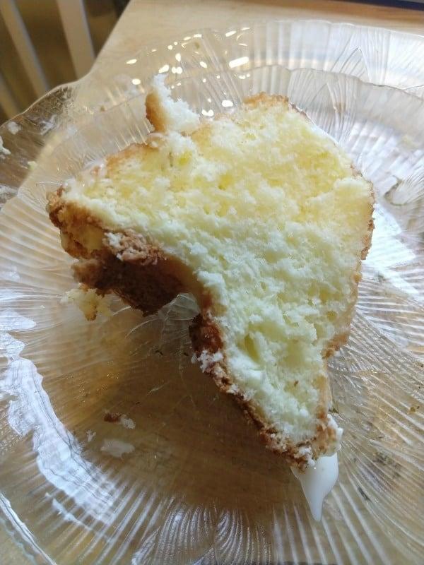 Gluten-Free Lemon Sponge Cake Slice on Plate