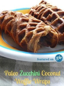 Your options for gluten-free wraps just got a whole lot better with these Paleo Zucchini Coconut Waffle Wraps! Grain free, soft, and pliable. How will you feel yours? [featured on GlutenFreeEasily.com] (photo)