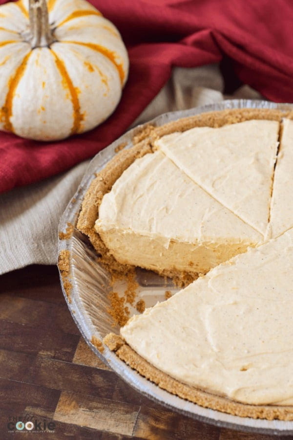 Gluten-Free, Vegan Pumpkin Cheesecake from The Fit Cookie