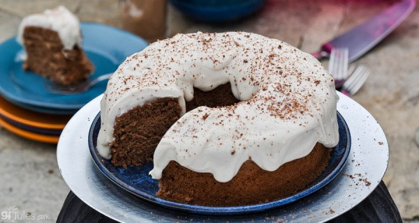 Gluten-Free Irish Pound Cake with Cream Cheese Frosting