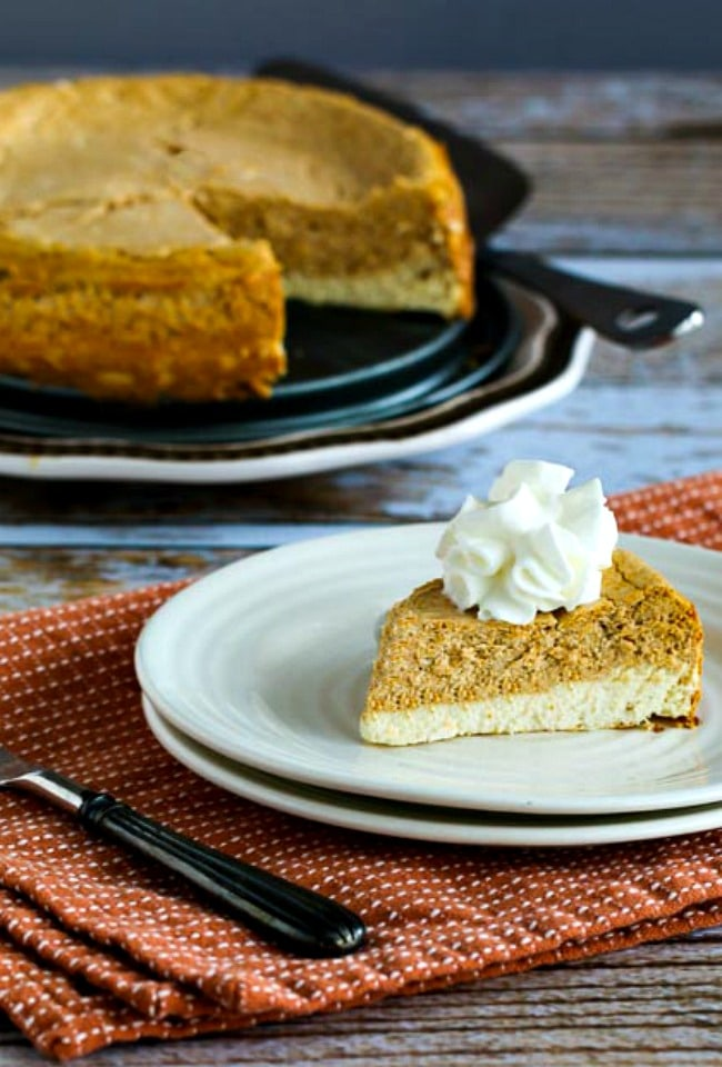 Pumpkin Cheesecake from Kalyn's Kitchen (Sugar Free or Low Sugar)
