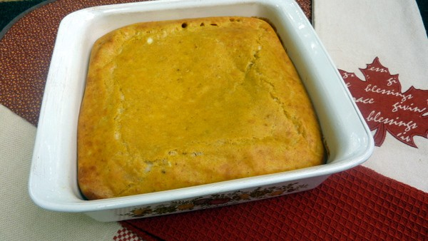 Pumpkin Cheese Souffle. A gluten-free pumpkin version of Jacques Pepin's mother's cheese souffle. You don't even have to separate the eggs! [from GlutenFreeEasily.com] (photo)