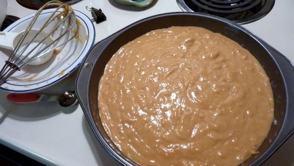 Gluten-Free Pumpkin Kahlua Coconut Cake Before Baking [from GlutenFreeEasily.com] (photo)