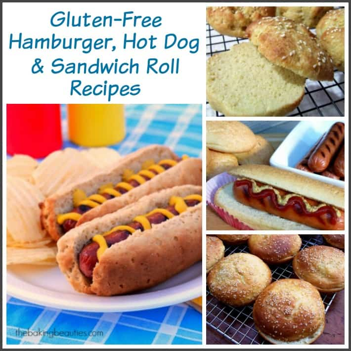 Gluten-free bread recipes on gfe in the Bountiful Bread Basket series. Gluten-Free Hamburger, Hot Dog, and Sandwich Roll Recipes.[featured on GlutenFreeEasily.com]