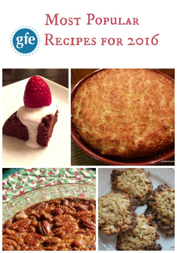 Most Popular Gluten-Free Recipes on GFE for 2016 [from GlutenFreeEasily.com] (photo)