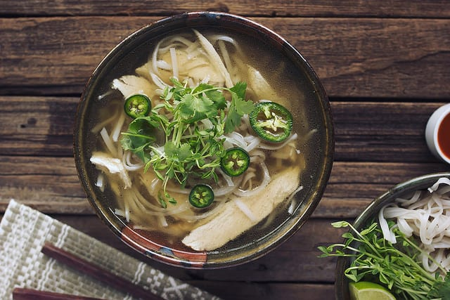 Gluten-Free Chicken Noodle Soup Recipes. Shown is Tasty Yummies' Chicken Pho recipe. [featured on GlutenFreeEasily.com]