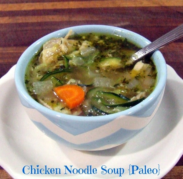 Gluten-Free Chicken Noodle Soup Recipes. Shown is Cassidy's Craveable Creations' Paleo Chicken Noodle Soup recipe. [featured on GlutenFreeEasily.com]